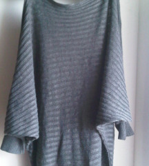 Pletena haljina sa šišmiš 3/4 rukavima S/M