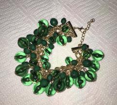 Zelena i smeđa narukvica