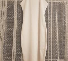 Uska bijela midi haljina