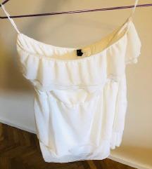 H&M bijela lepršava haljina 36