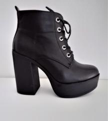 Čizme gležnjače s vezicama na platformu New Look