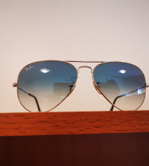 Ray-Ban Aviator 3025 Silver Frame blue
