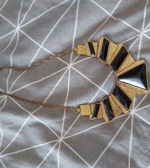 Crno-zlatna ogrlica