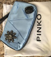 Pinko satenska torbica-plava