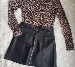 Kozna suknja i majica M
