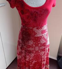 Desigual crvena haljina, M