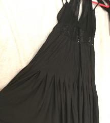 Crna rastezljiva haljina