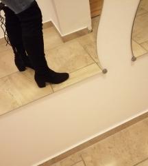 Crne čizme na visoku petu do koljena cijena s pošt
