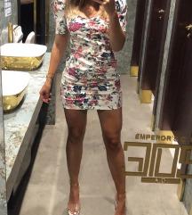 Zara cvjetna mini haljina sa pojasom