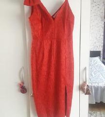 SNIŽENO na 299 kn - Crvena svečana haljina midi