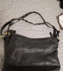 5 Th avenue crna torba od prave kože
