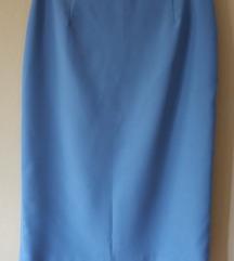 Tal.svijetlo plava poslovna suknja vel.38