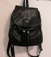 Crni kožni ruksak Amadeus