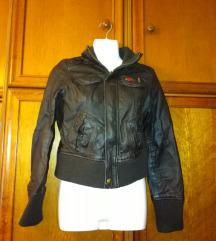 Mango kožna jakna XS(u cijenu uključen Tisak)
