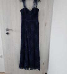 Svečana duga haljina tamno plava