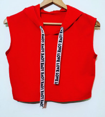 Crveni crop top S