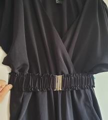 Odličan crni H&M kombinezon s remenom, XS