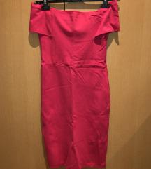 SNIŽENO! ZARA Ružičasta midi haljina