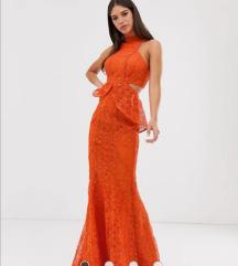 Čipkasta duga haljina