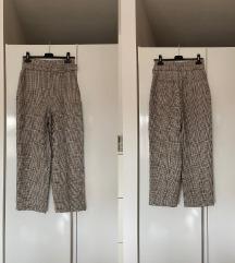 Zara karirane hlače visoki struk
