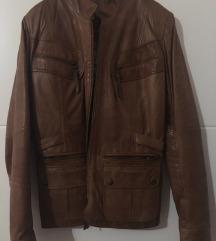 Kožna smeđa jakna
