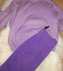 ☂️Lila lot S/M (džemper + suknja)