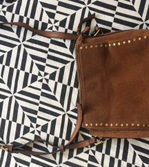 Kožna smeđa torbica