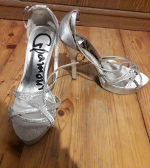Srebrne Glamour sandale sa cirkonima vel. 37