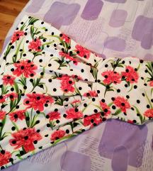 Midi cvjetno-točkasta retro haljina LAMBADA M