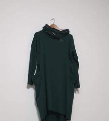 Zelena pamučna tunika s džepovima L-XL