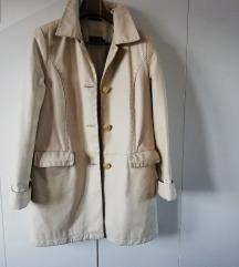 Svijetlo bež - ženski kožni kaput PRIVATE br.38-44