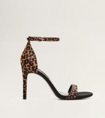 Mango sandale na petu/štikle leopard uzorka