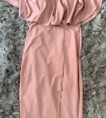 Ginger fizz roza nova haljina