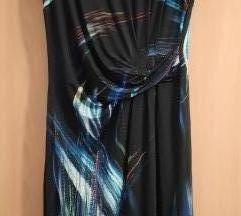 Prelijepa crno / šarena haljina L (XL)