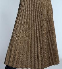 Zara karirana plisirana suknja vel.M