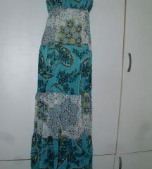 Trf dugačka tirkizna haljina