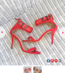 Zara crvene sandale 39
