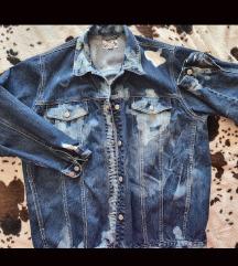 Vintage tie dye traper jakna