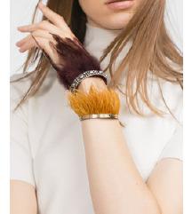 Zara narančasta perje narukvica