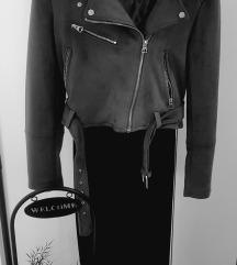 Pull and bear siva biker jakna