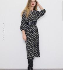 Zara duga haljina s geometrijskim uzorkom