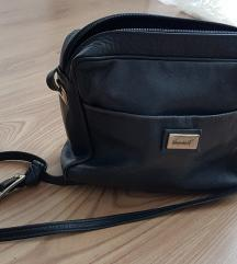 Tamnoplava torba od prave kože