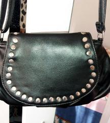 Crna kožna torbica - nova
