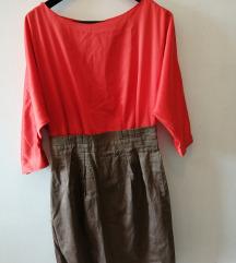 narančasto-smeđa haljina