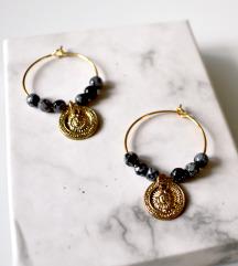 Boho mini ringovi s pahuljičastim opsidijanom