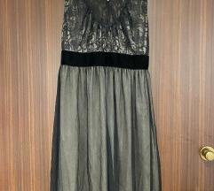 Mango svilena crna haljina