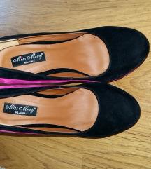 Cipele crno/pinki br.36