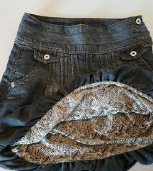 Jeans suknja na puff