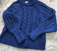 Topshop debeli kraljevsko plavi pulover