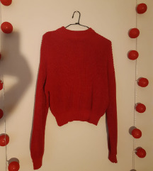 kraći pulover fuksija boje